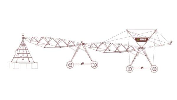 Круговые широкозахватные дождевальные машины Otech Круговая широкозахватная дождевальная машина, Otech, Pivot ST, 400 м